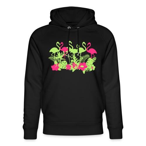 AL Dschungel Flowers & Flamingo - Unisex Bio-Hoodie von Stanley & Stella