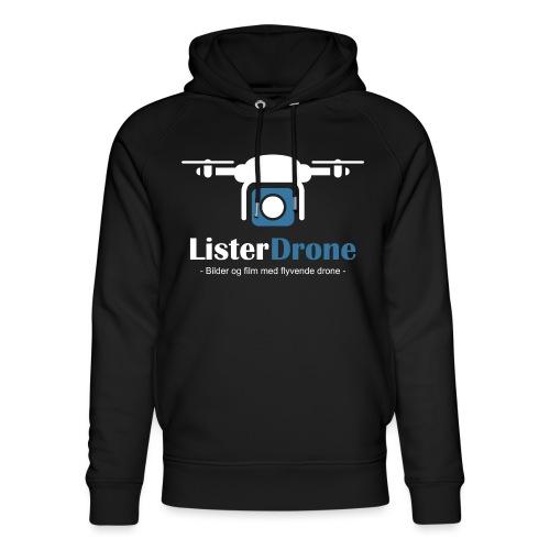 ListerDrone logo - Unisex økologisk hettegenser fra Stanley & Stella