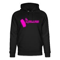 I Wish I Was Kitesurfing - Pink - Unisex Organic Hoodie by Stanley & Stella - black