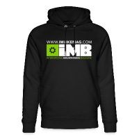 IMB Logo - Unisex Organic Hoodie by Stanley & Stella black