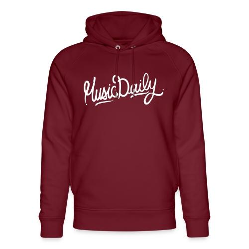 MusicDaily Logo - Uniseks bio-hoodie van Stanley & Stella