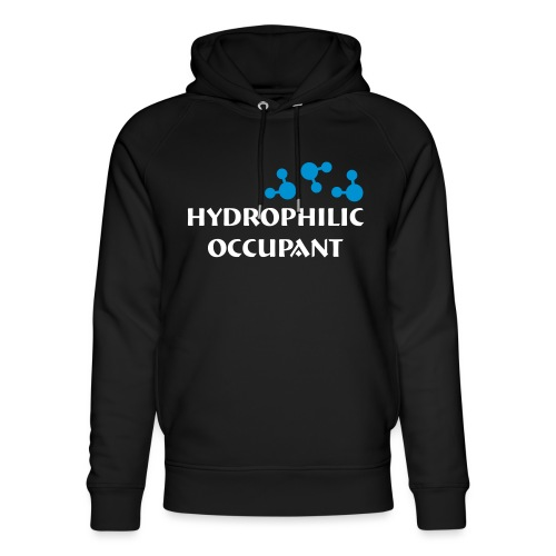 Hydrophilic Occupant (2 colour vector graphic) - Unisex Organic Hoodie by Stanley & Stella