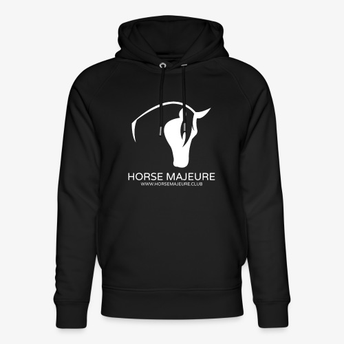 Horse Majeure Logo / Valkoinen - Stanley & Stellan unisex-luomuhuppari