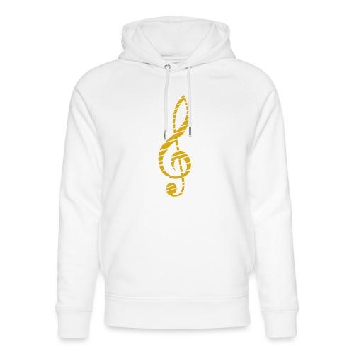 Goldenes Musik Schlüssel Symbol Chopped Up - Unisex Organic Hoodie by Stanley & Stella