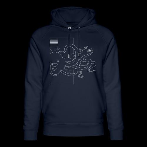Tintenfisch-Logo Weiss - Unisex Bio-Hoodie von Stanley & Stella