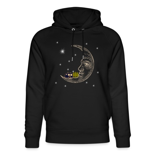 Camping RVing on The Moon - Unisex Organic Hoodie by Stanley & Stella