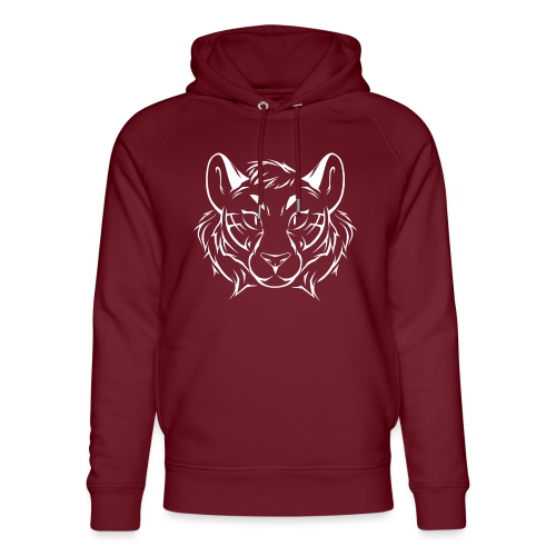 Tigris Picture Logo White - Unisex Organic Hoodie by Stanley & Stella