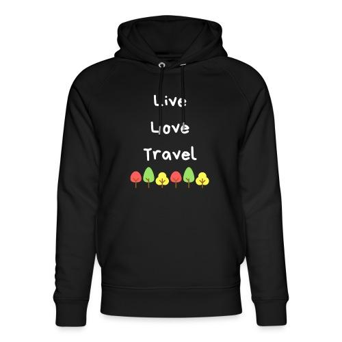 Live Love Travel weiss - Unisex Bio-Hoodie von Stanley & Stella