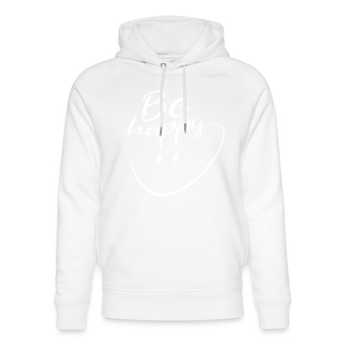 Be Happy With Hand Drawn Smile - Unisex Organic Hoodie by Stanley & Stella