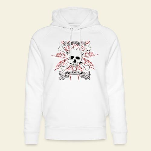 skull - Stanley & Stella unisex hoodie af økologisk bomuld
