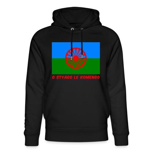 o styago le romengo flag of romani people t-shirt - Felpa con cappuccio ecologica unisex di Stanley & Stella