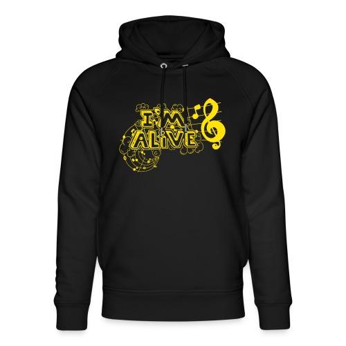 i m alive geel png - Uniseks bio-hoodie van Stanley & Stella