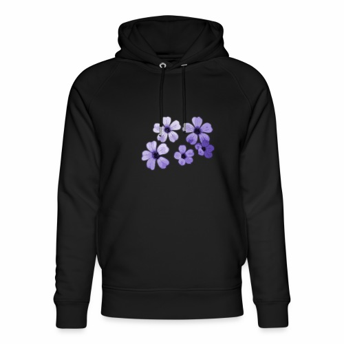 Blumen blau - Unisex Bio-Hoodie von Stanley & Stella