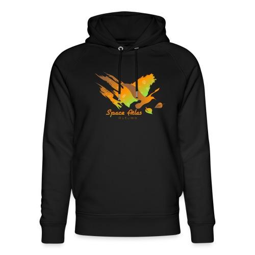 Space Atlas Longshirt Tee Autumn Leaves - Stanley & Stella unisex hoodie af økologisk bomuld