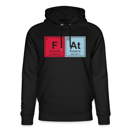 Geeky Fat Periodic Elements - Unisex Organic Hoodie by Stanley & Stella