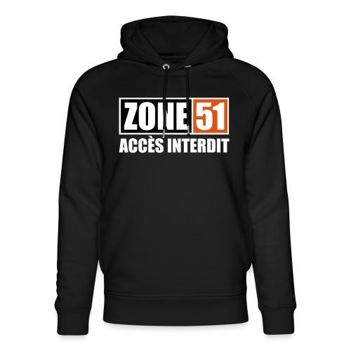 ZONE 51 - ACCES INTERDIT - Sweat à capuche bio Stanley & Stella unisexe