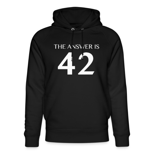 The Answer is 42 White - Unisex Organic Hoodie by Stanley & Stella