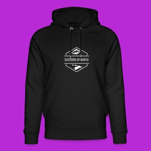 Hoodie White Logo - Unisex Organic Hoodie by Stanley & Stella