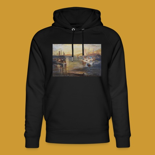 White Fishing - Mark Noble Art - Unisex Organic Hoodie by Stanley & Stella