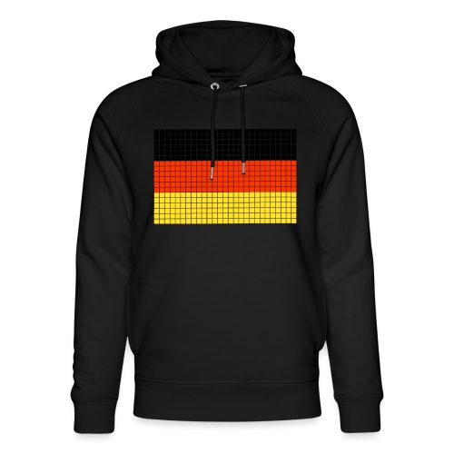 german flag.png - Felpa con cappuccio ecologica unisex di Stanley & Stella