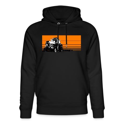 Sunset tractor orange - Felpa con cappuccio ecologica unisex di Stanley & Stella