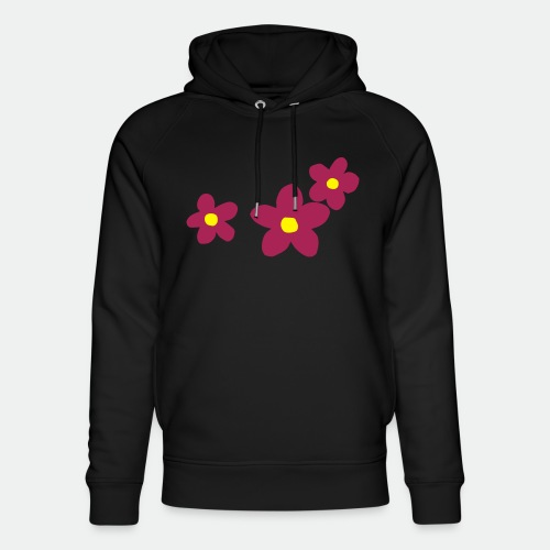 Three Flowers - Unisex Organic Hoodie by Stanley & Stella