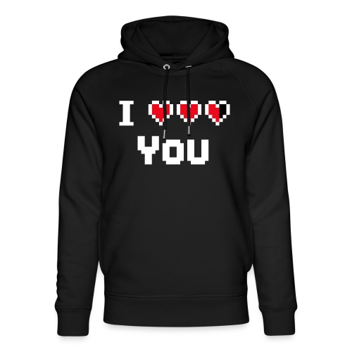 I pixelhearts you - Uniseks bio-hoodie van Stanley & Stella