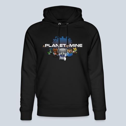 logo planetofmine dark HD - Sweat à capuche bio Stanley & Stella unisexe