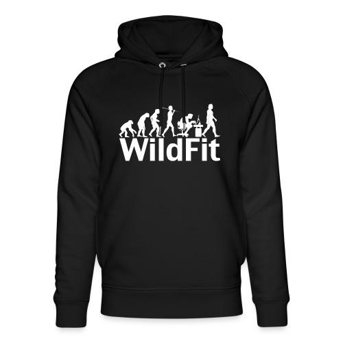 WildFit Logo Evolution Weiß - Unisex Bio-Hoodie von Stanley & Stella