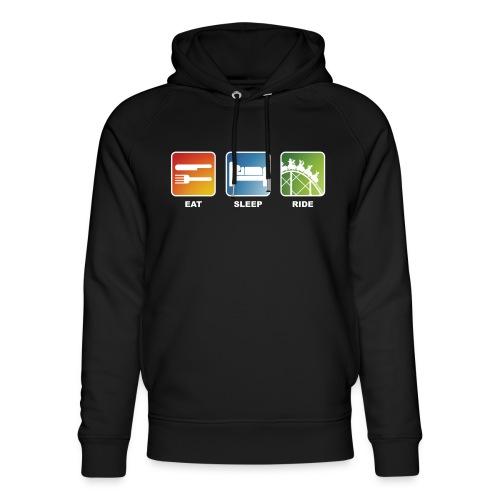 Eat, Sleep, Ride! - T-Shirt Schwarz - Unisex Bio-Hoodie von Stanley & Stella