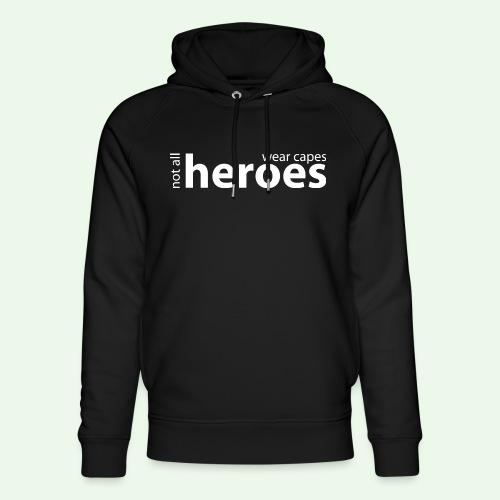 Not all Heroes wear capes // weiss - Unisex Bio-Hoodie von Stanley & Stella