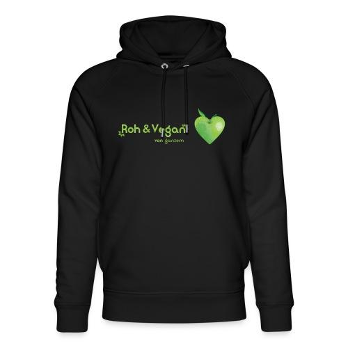 Roh & Vegan grünes Apfelherz (Rohkost) - Unisex Bio-Hoodie von Stanley & Stella
