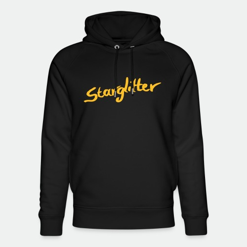 Starglitter - Lettering - Unisex Organic Hoodie by Stanley & Stella