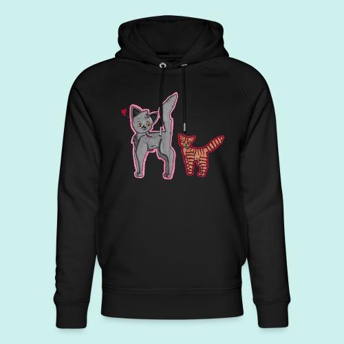 cat and kitten - Stanley & Stellan unisex-luomuhuppari