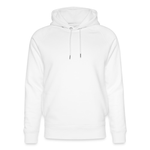 happily disappointed white - Unisex Organic Hoodie by Stanley & Stella