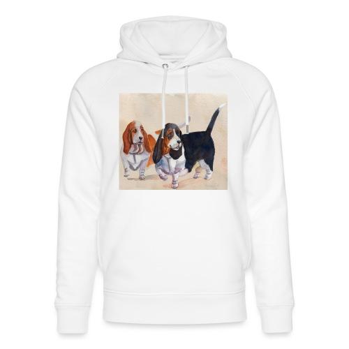 Basset hound_double-trot - Stanley & Stella unisex hoodie af økologisk bomuld