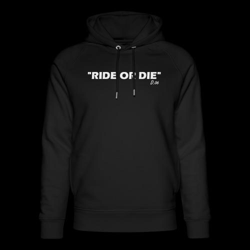 Ride or die (blanc) - Sweat à capuche bio Stanley & Stella unisexe