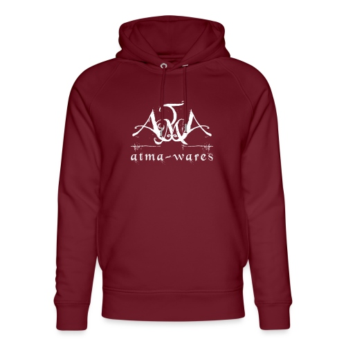 atma wares logo white - Uniseks bio-hoodie van Stanley & Stella