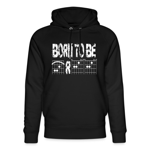 Born to be free in guitar chords - Unisex Organic Hoodie by Stanley & Stella