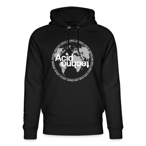 acid techno world - Ekologiczna bluza z kapturem typu unisex Stanley & Stella
