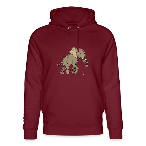 African Elephant (black edition) - Unisex økologisk hettegenser fra Stanley & Stella
