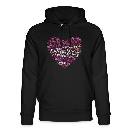 Hjerte - Stanley & Stella unisex hoodie af økologisk bomuld