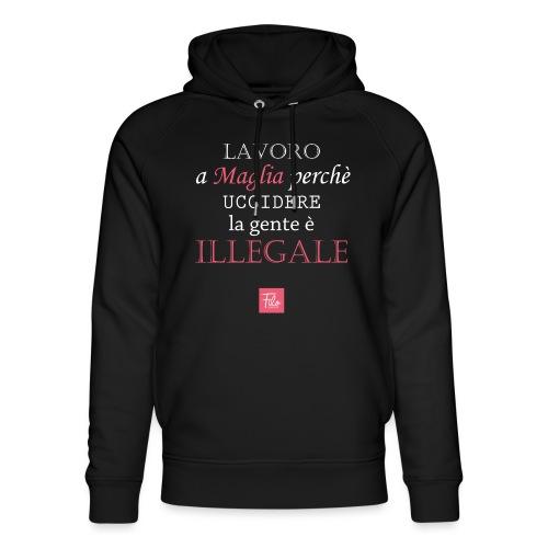 Lavoro a maglia perché uccidere è illegale - Felpa con cappuccio ecologica unisex di Stanley & Stella