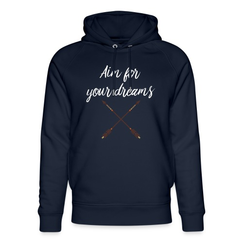 Aim for your Dreams white - Stanley & Stellan unisex-luomuhuppari