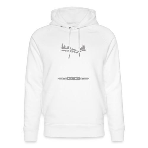 Rocky Mountain Nationalpark Berg Bison Grizzly Bär - Unisex Organic Hoodie by Stanley & Stella