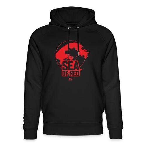 Sea of red logo - red - Unisex Organic Hoodie by Stanley & Stella