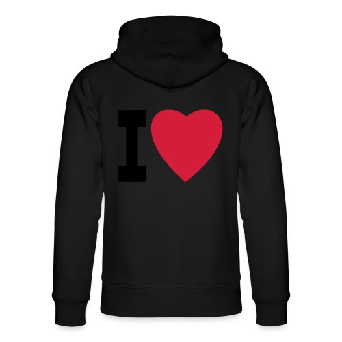 create your own I LOVE clothing and stuff - Unisex Organic Hoodie by Stanley & Stella