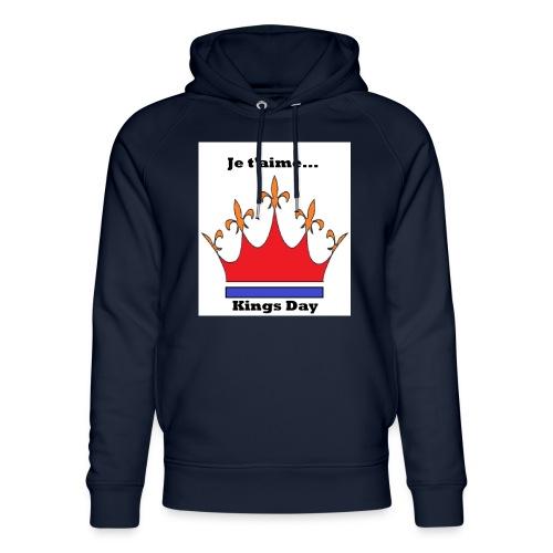 Je taime Kings Day (Je suis...) - Uniseks bio-hoodie van Stanley & Stella