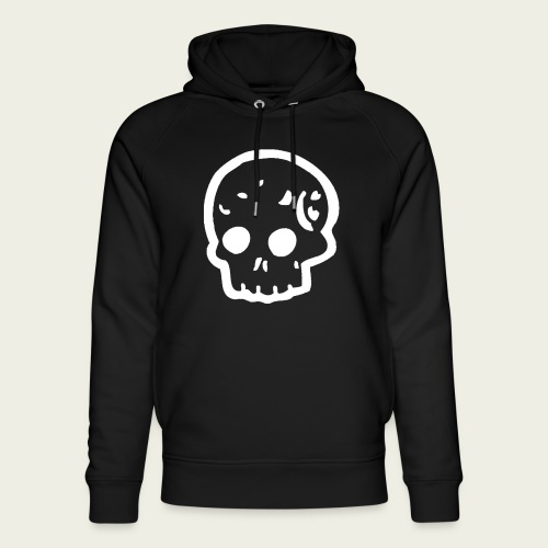 Skull logo whi - Sudadera con capucha ecológica unisex de Stanley & Stella
