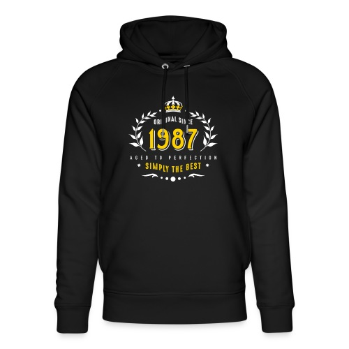 original since 1987 simply the best 30th birthday - Unisex Organic Hoodie by Stanley & Stella